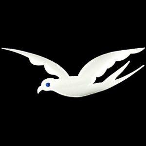 Phi Beta Sigma (PBS) 3 7/8″ x 9 5/8″ Tackle Twill Dove Emblem W/Heat Seal Backing