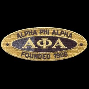 APA 4″W Oval Founders Emblem W/Heat Seal Backing