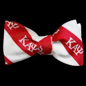 KAP Imitation Silk Bow Tie & Handkerchief Set Red/White