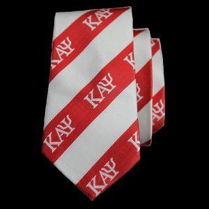 KAP Imitation Silk Neck Tie – Red/White