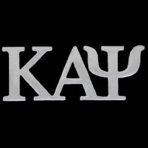 KAP 1″ Silver Letters Lapel Pin