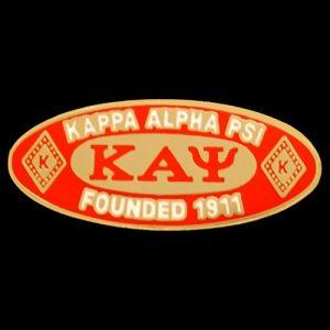 KAP Oval Founders Pin W/Mascot 7/16 x 1″