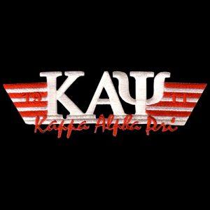 KAP 4 3/4″W Two Tone 3-N-1 White W/Red Emblem W/Heat Seal Backing