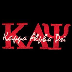 KAP 1 3/8″T Red Signature Emblem W/Heat Seal Backing