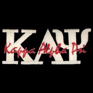KAP 4″T Cream Signature Emblem W/Heat Seal Backing