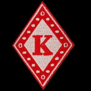 KAP 2 7/8″T Diamond Emblem W/Heat Seal Backing