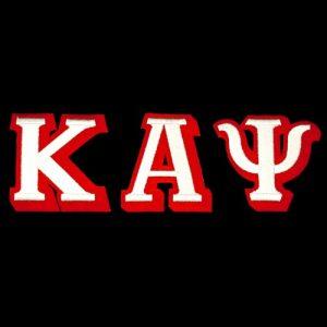 KAP 3 1/2″T White/Red 3-D Letters Emblem Set W/Heat Seal Backing