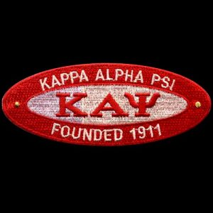 KAP 4″W Oval Founders Emblem W/Heat Seal Backing
