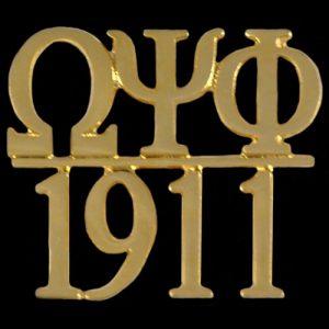 OPP/1911 Chapter Bar Lapel Pin In Gold