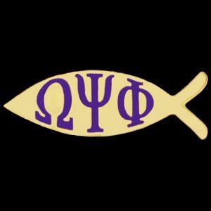 OPP 1″W Fish Lapel Pin